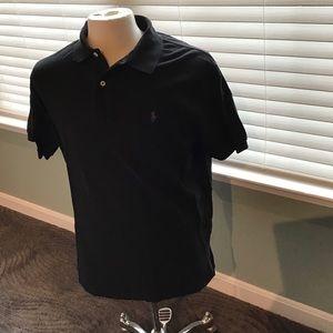 Polo Ralph Lauren Black Polo Shirt EUC